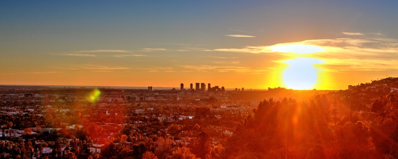 Los Angeles Skyline Sunset by Jacob Avanzato - Thumbnail