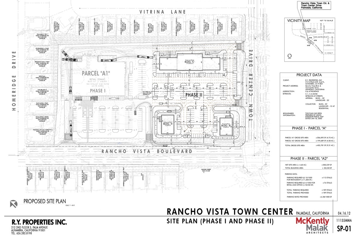 Rancho Vista Town Center Site Plan